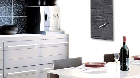 Magnetická tabule Eurographic Black Slate,30x80cm