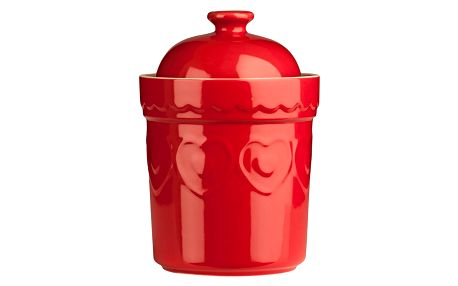 Červená dóza Premier Housewares Sweet Heart,0,8l