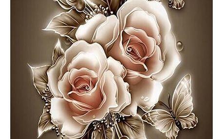 5D obraz s růžemi