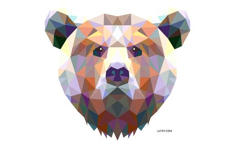 Samolepka Ambiance Origami Bear