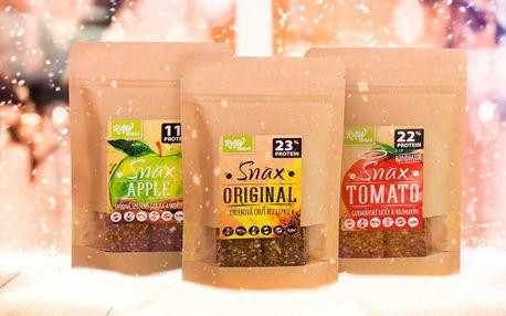 Bezlepkové raw sušenky SNAX ve 3 příchutích