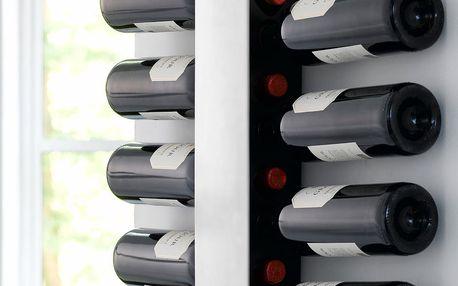 Nástěnný držák na lahve vína Steel Function Winerack