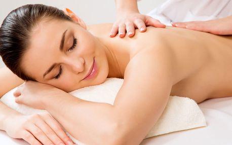 Masáž zad šíje + lymfatická masáž obličeje