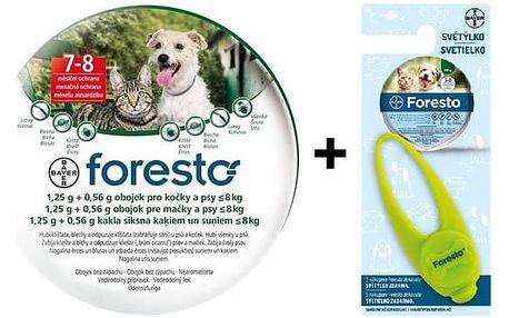 Bayer Foresto 38 cm pro kočky a malé psy + světýlko