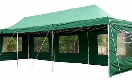 Garthen 404 Zahradní skládací párty stan PROFI - zelený 3 x 9 m