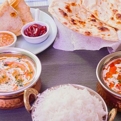 Indické menu plné specialit pro 2 osoby