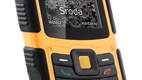Mobilní telefon myPhone HAMMER 2 Dual SIM černý/oranžový + dárek (TELMYHHA2OR)