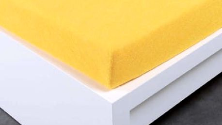 XPOSE ® Froté prostěradlo Exclusive jednolůžko - žlutá 90x200 cm