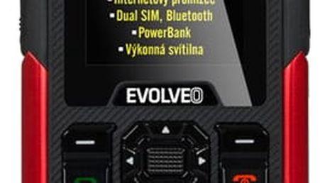 Mobilní telefon Evolveo StrongPhone X3 Dual SIM černý/červený + dárek (SGM SGP-X3-B)