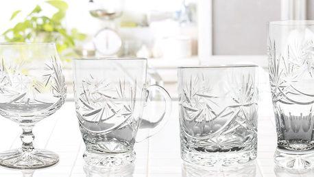Sady ručně broušených křišťálových sklenic