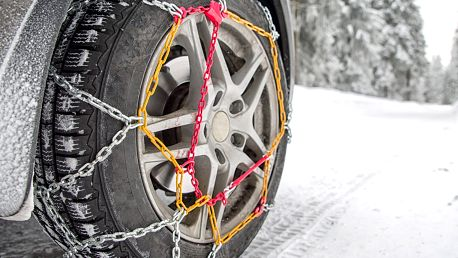 Sada rychloupínacích sněhových řetězů
