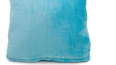 Jahu Polštářek Mikroplyš New modrá, 40 x 40 cm
