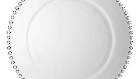 Skleněný dekorativní servírovací talíř Côté Table Pearls