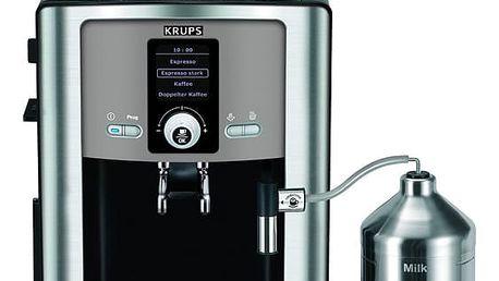 Espresso Krups Espresseria Automatic EA8050PE černé/titanium + dárek Káva zrnková Simon Lévelt BIO Uganda 250 g v hodnotě 159 Kč + DOPRAVA ZDARMA