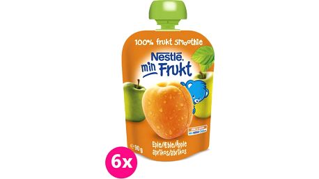 6x NESTLÉ Kapsička Meruňka-Jablko (90 g) – ovocná kapsička