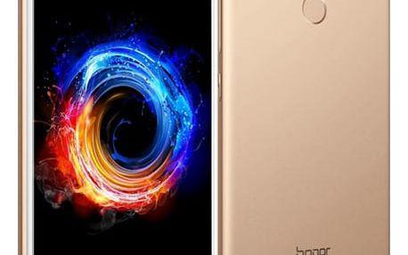 Mobilní telefon Honor 8 Pro (51091NPH) zlatý Software F-Secure SAFE, 3 zařízení / 6 měsíců + Pouzdro na mobil flipové Honor 8 Pro View Cover zlaté v hodnotě 1 387 Kč + DOPRAVA ZDARMA