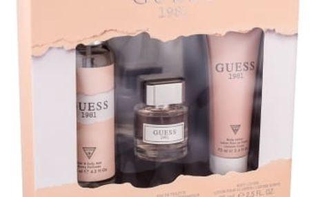 GUESS Guess 1981 EDT dárková sada W - EDT 30ml + tělové mléko 75ml + tělový závoj 125ml