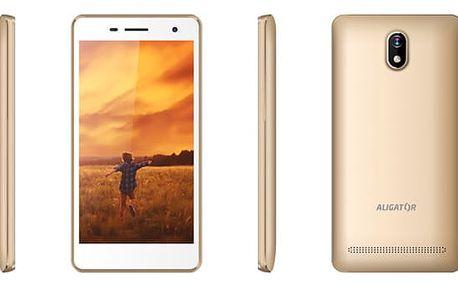 Mobilní telefon Aligator S5065 Dual SIM (AS5065GD) zlatý Software F-Secure SAFE, 3 zařízení / 6 měsíců v hodnotě 979 Kč