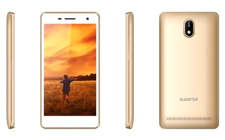 Mobilní telefon Aligator S5065 Dual SIM (AS5065GD) zlatý