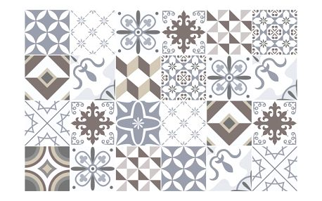 Sada 24 samolepek Ambiance Mosaic Portugal, 90 x 60 cm
