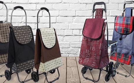 Nákupní tašky na kolečkách s kovovou konstrukcí