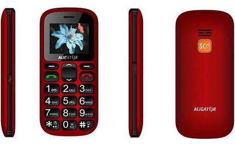 Aligator A321 Senior Dual SIM (A321RB) černý/červený