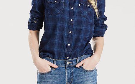Košile LEVI'S Modern Western Dogwood Indigo Plaid Modrá
