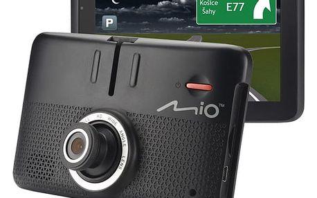 Navigační systém GPS Mio MiVue Drive 55LM s kamerou, mapy EU (44) Lifetime (5262N5380032) černá Příslušenství pro GPS Mio CPL černý + DOPRAVA ZDARMA