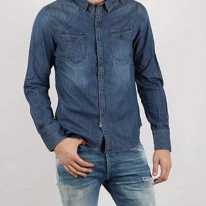 Košile Replay 7 OZ DENIM Modrá