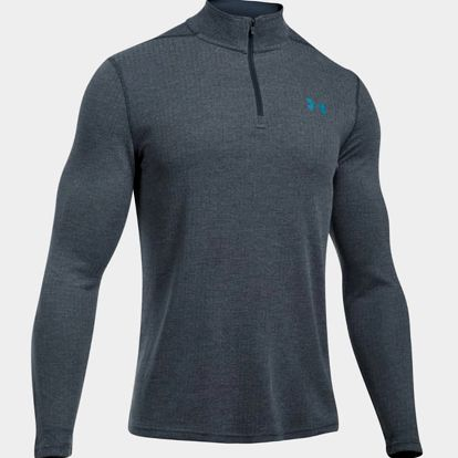 Tričko Under Armour Threadborne Fitted 1/4 Zip Šedá