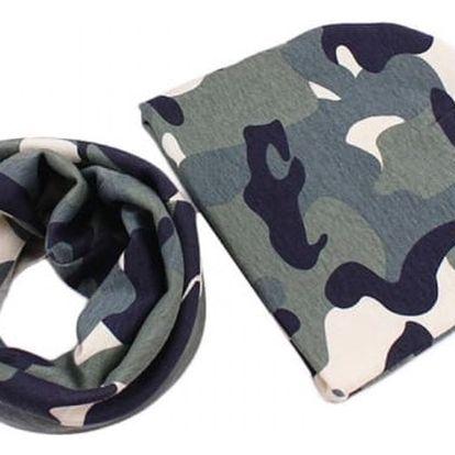 Dětská čepice s šálou - 15 barev