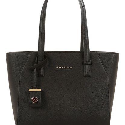 Černá kabelka ze saffiano kůže Laura Ashley Acton