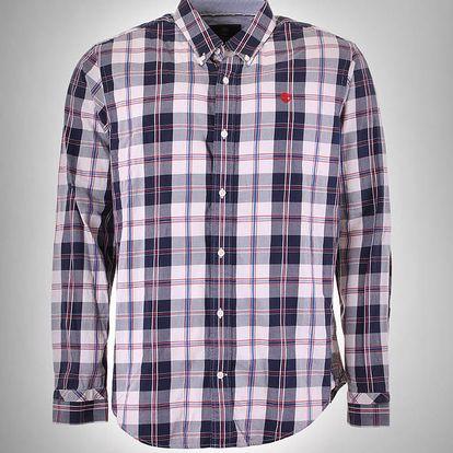 Košile Timberland LS MERIDEN PLAID SHIRT Modrá