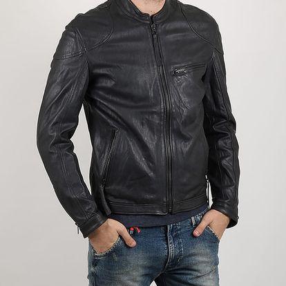 Bunda Replay VEGETAL leather Šedá