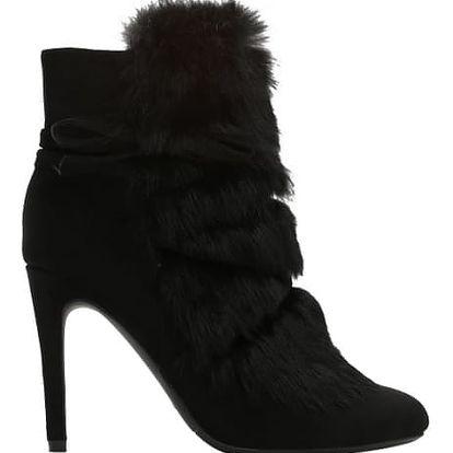 Dámské černé kotníkové boty Rossy 1319