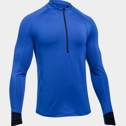 Tričko Under Armour CG Reactor Run Half Zip Modrá