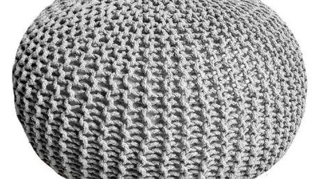 Šedý puf Homemania Dedalo, ⌀ 50cm