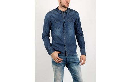 Košile Replay 7 OZ DENIM Modrá