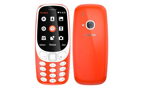 Mobilní telefon Nokia 3310 (2017) Dual SIM červený (A00028109)