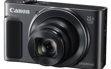Digitální fotoaparát Canon SX620 HS (1072C002) černý Pouzdro na foto/video Canon DCC-1500 černé v hodnotě 490 Kč + DOPRAVA ZDARMA