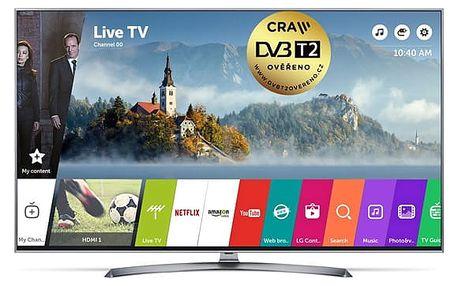 Televize LG 55UJ7507 stříbrná/titanium