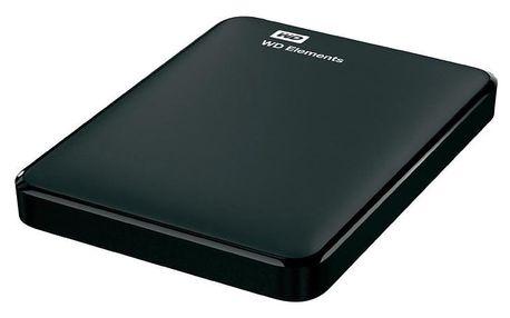 """Externí pevný disk 2,5"""" Western Digital Elements Portable 1TB černý (WDBUZG0010BBK-WESN)"""