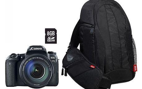 Digitální fotoaparát Canon EOS 77D + 18-135 IS USM Value Up Kit černý (1892C034)