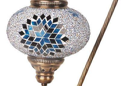 Skleněná ručně vyrobená lampa Fishing Sun, ⌀17 cm