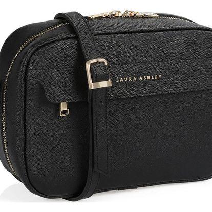 Černá kabelka ze saffiano kůže Laura Ashley Furley