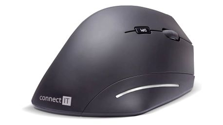 Myš Connect IT CMO-2510-BK For Health černá (/ optická / 6 tlačítek / 1600dpi) (CMO-2510-BK)