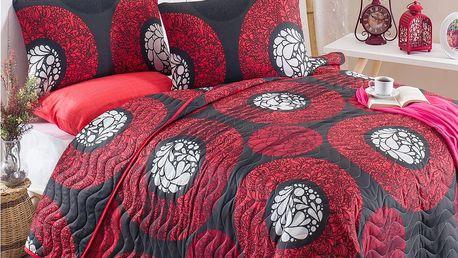 Prošívaný přehoz přes postel se 2 povlaky na polštáře Tetsuga, 200 x 220 cm
