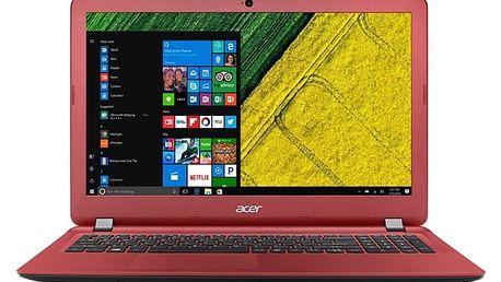 Notebook Acer Aspire ES15 (ES1-523-4733) černý/červený + dárky (NX.GL0EC.002)
