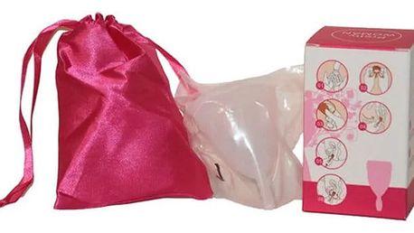 Průhledný nebo barevný menstruační kalíšek