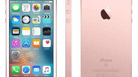 Mobilní telefon Apple iPhone SE 32 GB - Rose Gold + dárek (MP852CS/A)